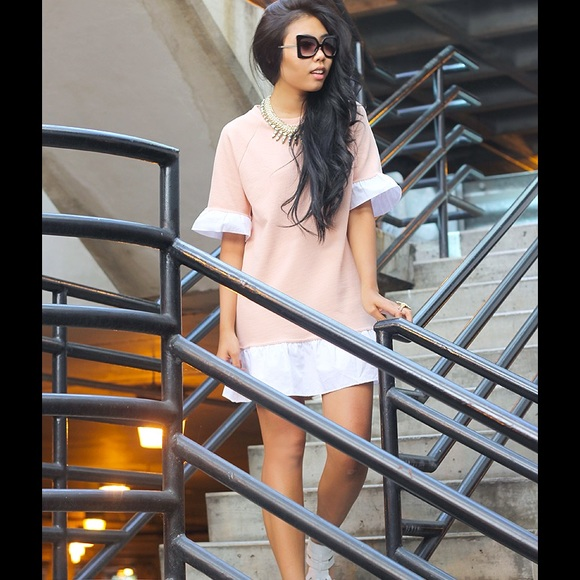 Yes Style Dresses - pink / white dress