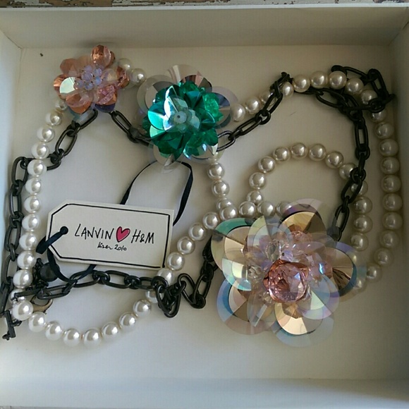 Lanvin Pearl Necklace: Lanvin For H&M Flower & Pearl