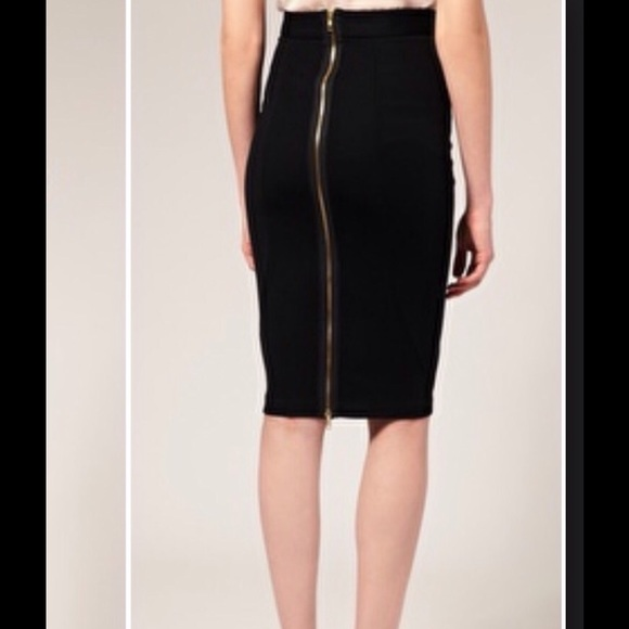 Black pencil skirt with zipper – Modern skirts blog for you
