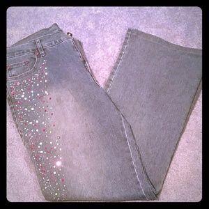 Designer Christina V Rhinestone Jeans