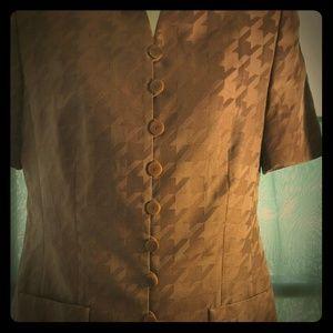 Vintage Louis Feraud houndstooth jacket or top