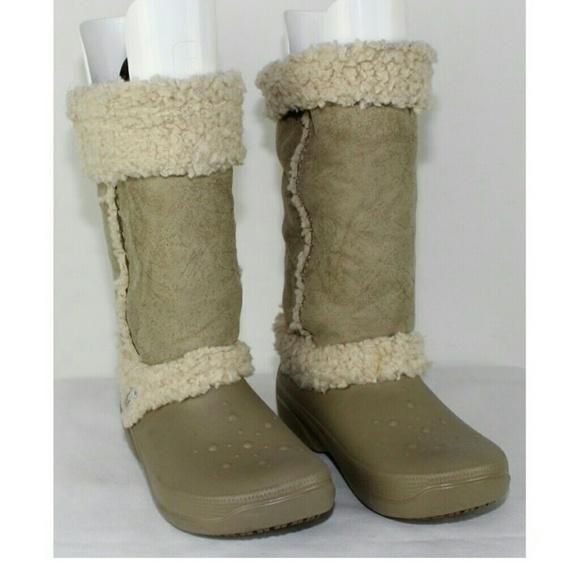 083301b9824679 crocs Boots - CROCS NADIA WINTER LINED BOOTS