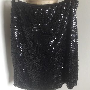 Connected Apparel Dresses & Skirts - Black sequined skirt !