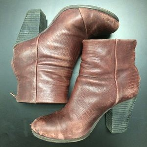 rag & bone Boots - Rag & Bone Newbury Leather Booties sz 37.5