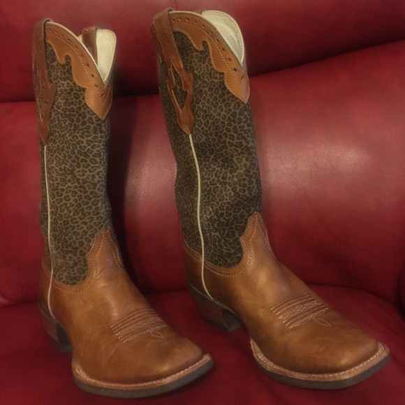 77% off Ariat Boots - ~Ariat Crossfire Caliente Cheetah Cowboy ...