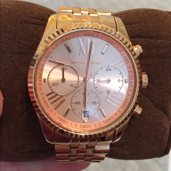 c1651a386ac1 Michael Kors MK5569 Lexington Rose Gold-Tone Watch.  M 55df8ac4f09282c9cd00d788