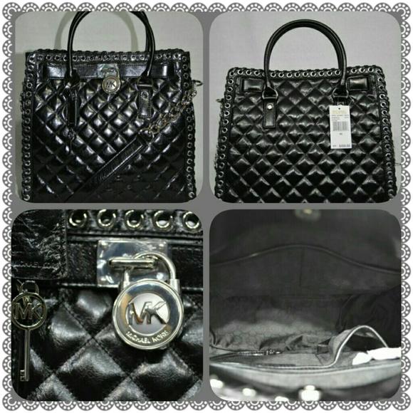 24 Off Michael Kors Handbags Nwt Mk Black Quilted