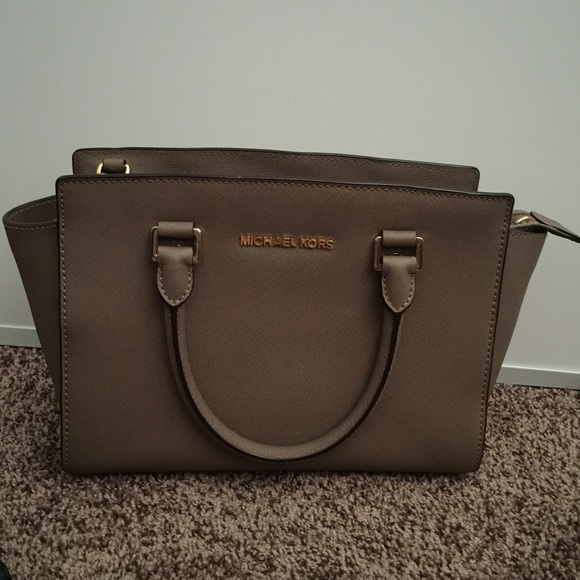 35cd1ecd85cb SELMA SAFFIANO SATCHEL IN DARK DUNE. M_55df981d7f0a058b9600dbfa. Other Bags  you may like. Michael Kors ...