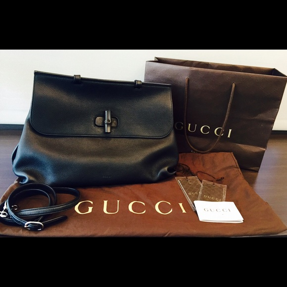 153542aa34d4 Gucci Bags | Bamboo Daily Leather Top Handle Bag | Poshmark