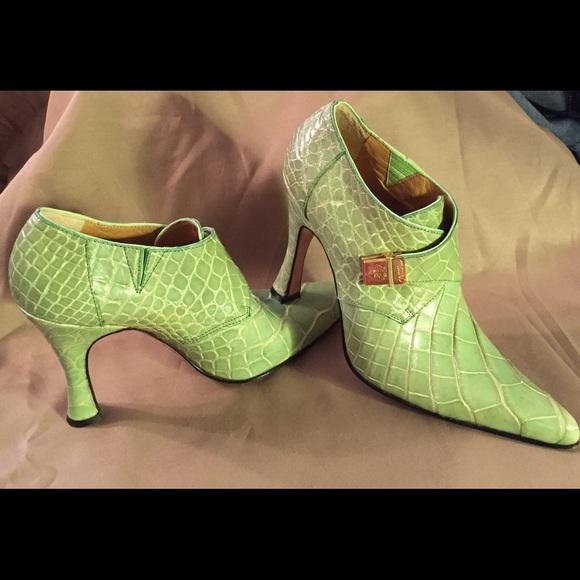 Mauri Shoes Genuine Alligator Booties Italian Made