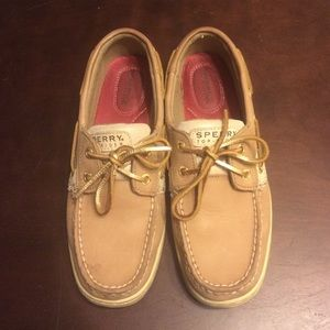 Sperry Top-Sider Shoes - Rare Gold Sperry Bluefish Topsider