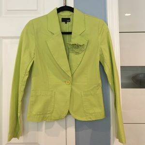H&M Green Blazer with Flower Details