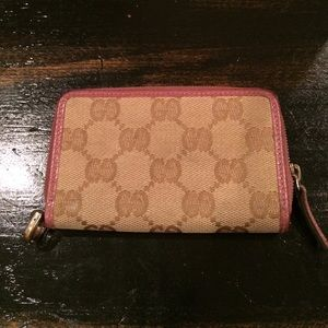 Gucci wallet canvas and leather