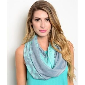 Accessories - Floral Infinity Scarf - 4 colors