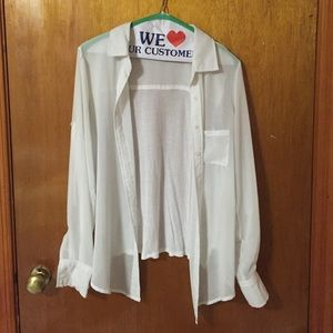 Tops - White button up