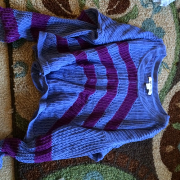 73% off Roxy Sweaters - 🌸Blue and Purple Striped Sweater from ...