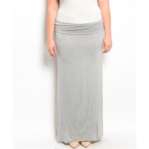 Dresses & Skirts - Gray Plus Size Maxi Skirt
