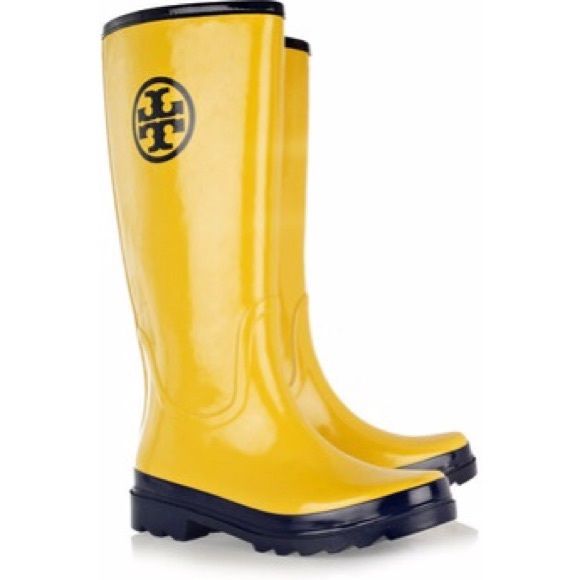 73% off Tory Burch Boots - Tory Burch Yellow Rain Boots - Size 11