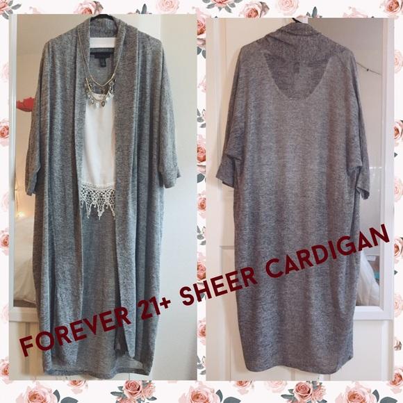 Forever 21 - Sheer Grey Cardigan from Fabiola's closet on Poshmark
