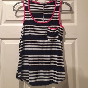  REDUCED  Navy and White striped blouse