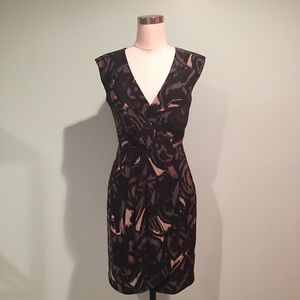 Merona Dresses & Skirts - Dark printed work dress