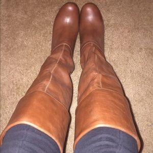 Steve Madden Heidii Cognac Leather Boots