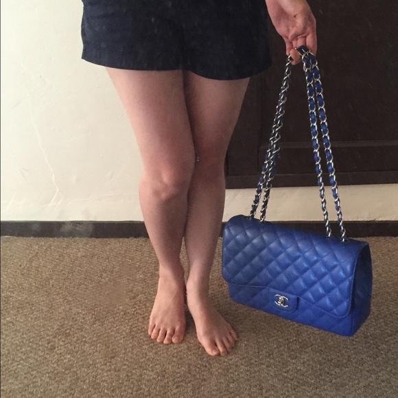 7f1730393770 CHANEL Bags | Bleu Roi Caviar Jumbo Sharing | Poshmark