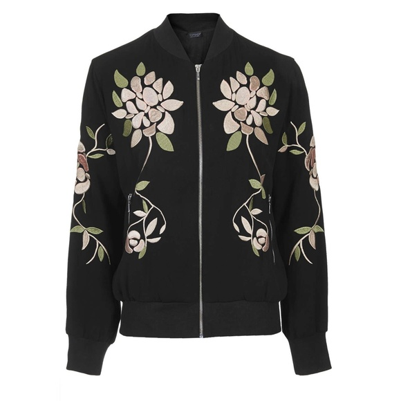 Topshop floral embroidered bomber jacket from inspired s