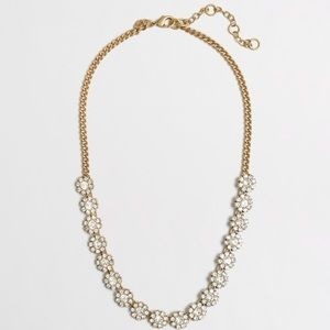 J. Crew Factory Crystal Flower Necklace