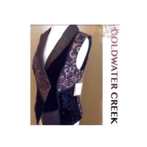 ✝✝ColdWater Creek vest new with tags $$FIRM⬇️