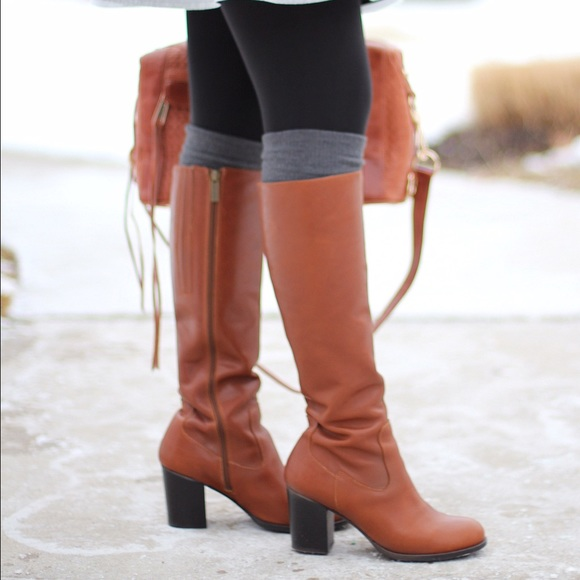 86% off Duo Boots - Duo tan leather WIDE CALF knee high boots from ...
