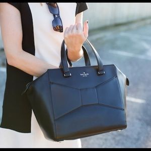 Black Kate Spade Park Avenue Beau Bag