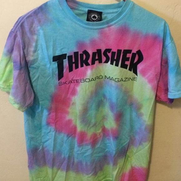 43 thrasher tops tie dye thrasher tshirt from