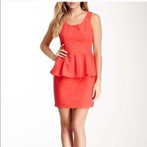 New BB Dakota Peplum dress red/ coral