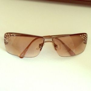 Accessories - Brown sunglasses with rhinestones