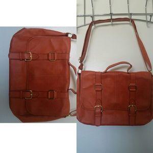 Orange satchel bag