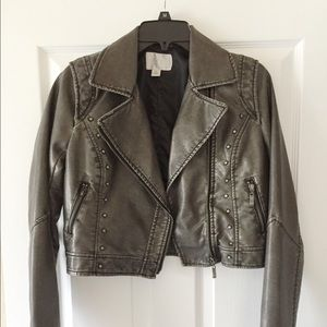 Exhilaration Jackets & Blazers - Biker Jacket (Cropped)