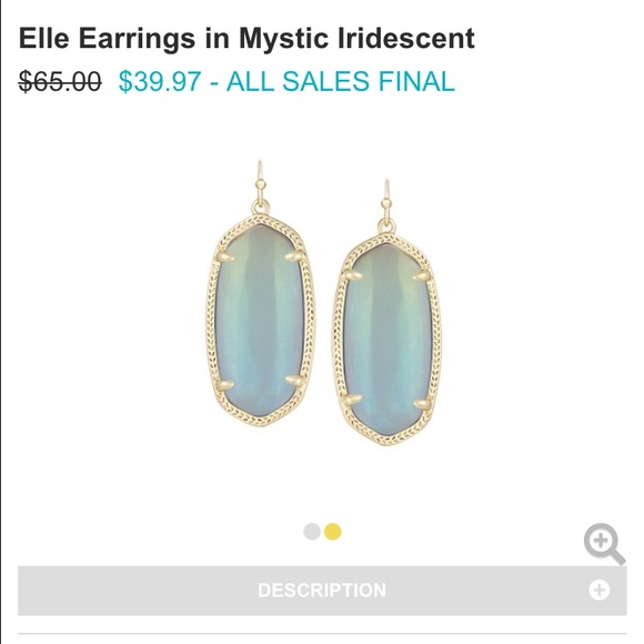 25 off Kendra Scott Jewelry Elle Earrings Mystic Iridescent New
