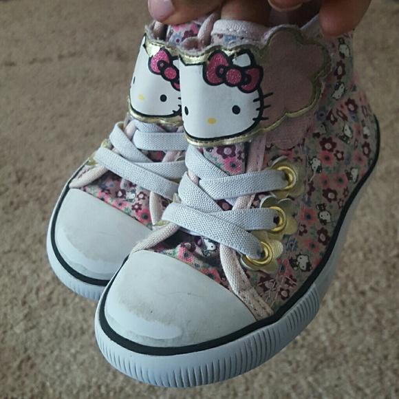 5d307633b1eb1 H&M Shoes | Toddler Girl Hm Hello Kitty High Top | Poshmark