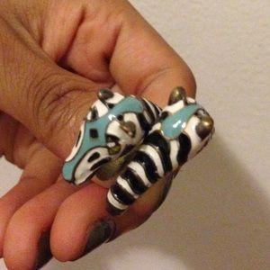 Jewelry - Circus zebra ring