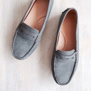 Boutique  Shoes - Genuine Grey Suede Leather Loafers
