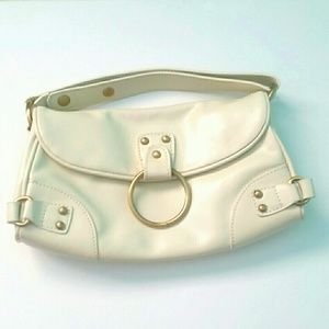 Nine West Leather Cream Clutch/Purse