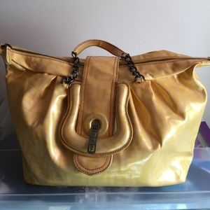 AUTHENTIC FENDI BAG!! Large yellow FENDI bag
