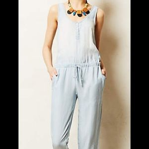 Anthropologie - Cloth and Stone chambray jumpsuit