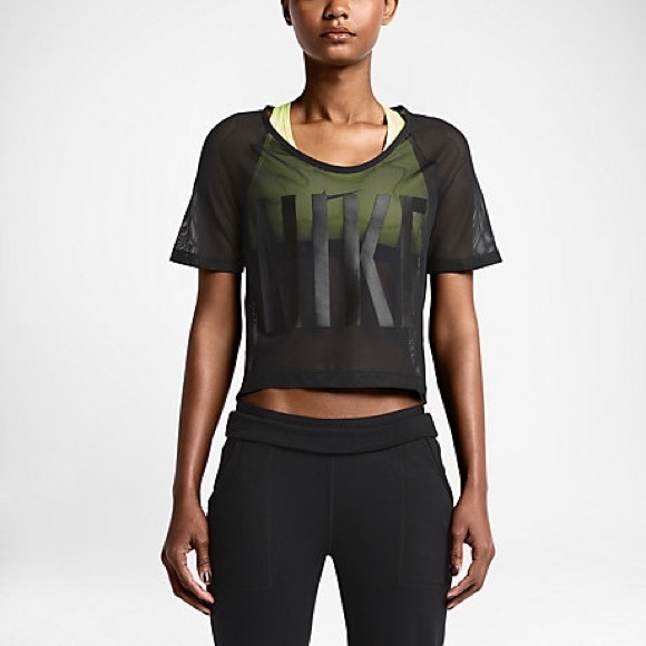 nike nike mesh training crop top from marisol 39 s closet. Black Bedroom Furniture Sets. Home Design Ideas