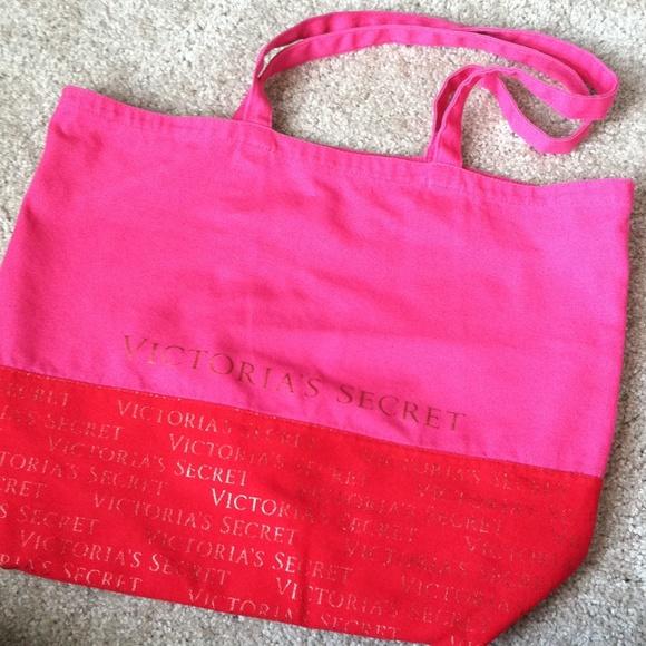 91% off Victoria's Secret Handbags - Pink & Red Victoria's Secret ...