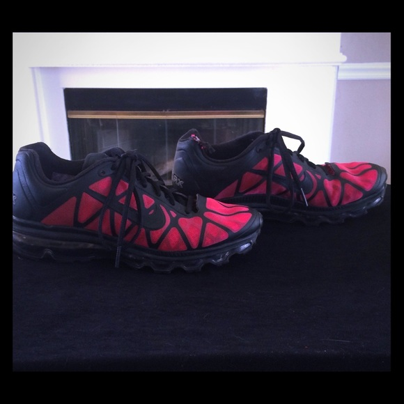 Women's Nike Air Max+ Black & Red in size 8.5