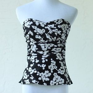 White House Black Market Tops - White House Black Market Strapless Silk Top (0)