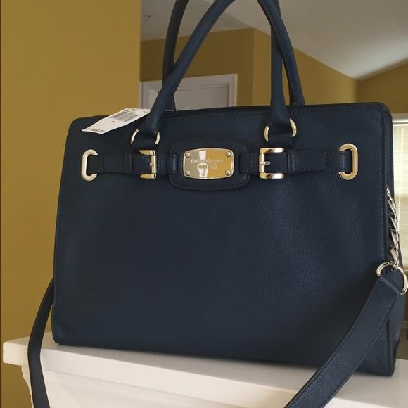 3c163dfff84b Michael Kors Bags | Hamilton Navy Blue Bag Nwt | Poshmark