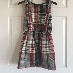 Red & Black Plaid Mini Dress